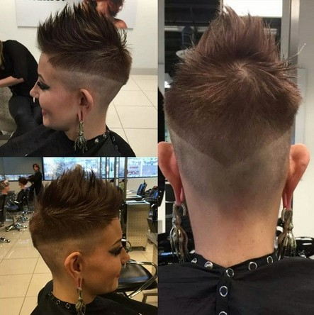 Short Spikey Hairstyle with Undercut