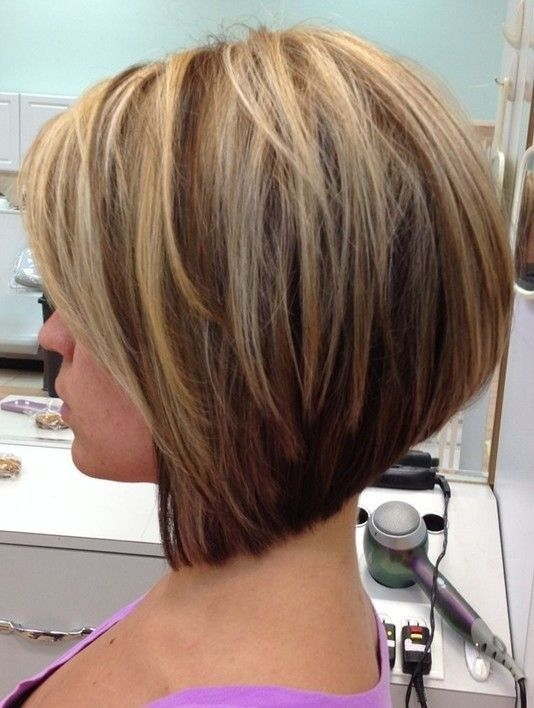 Stacked Bob Haircut for Short Hair