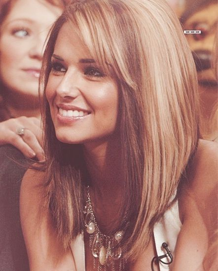 Stylish Long Bob Hairstyle for Ombre Hair