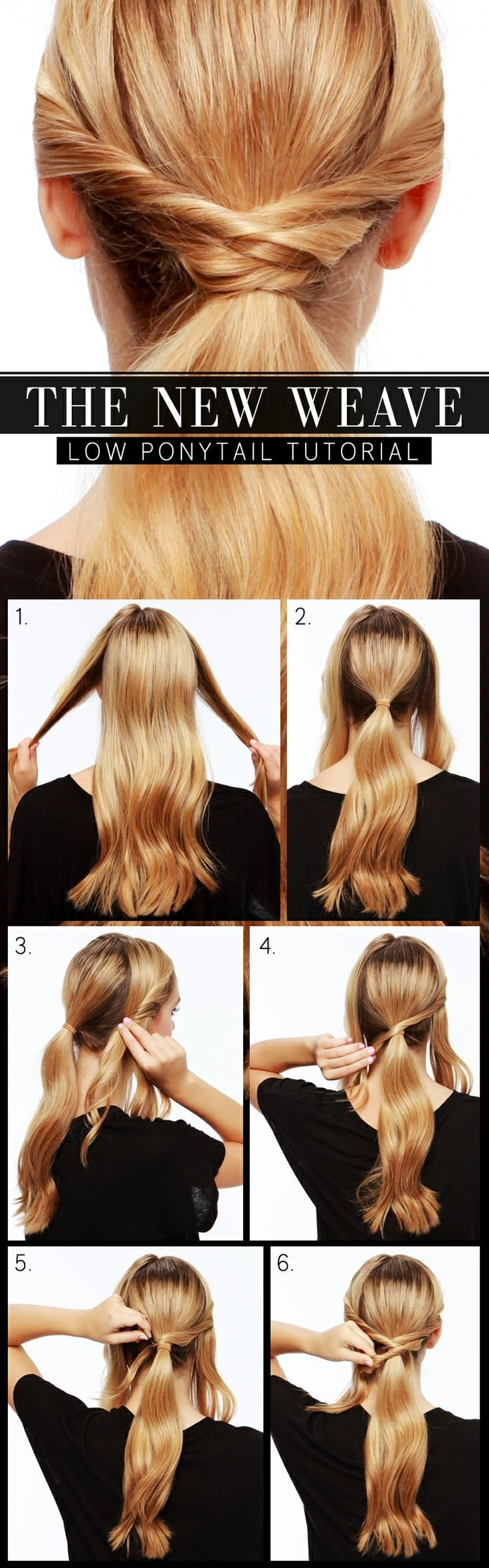 The New Weave Low Ponytail Hairstyle Tutorial