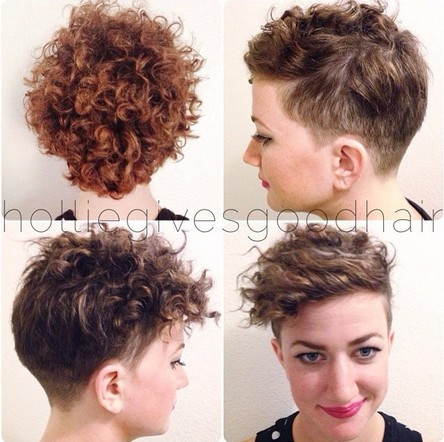 Trendy Short Curly Hairstyle