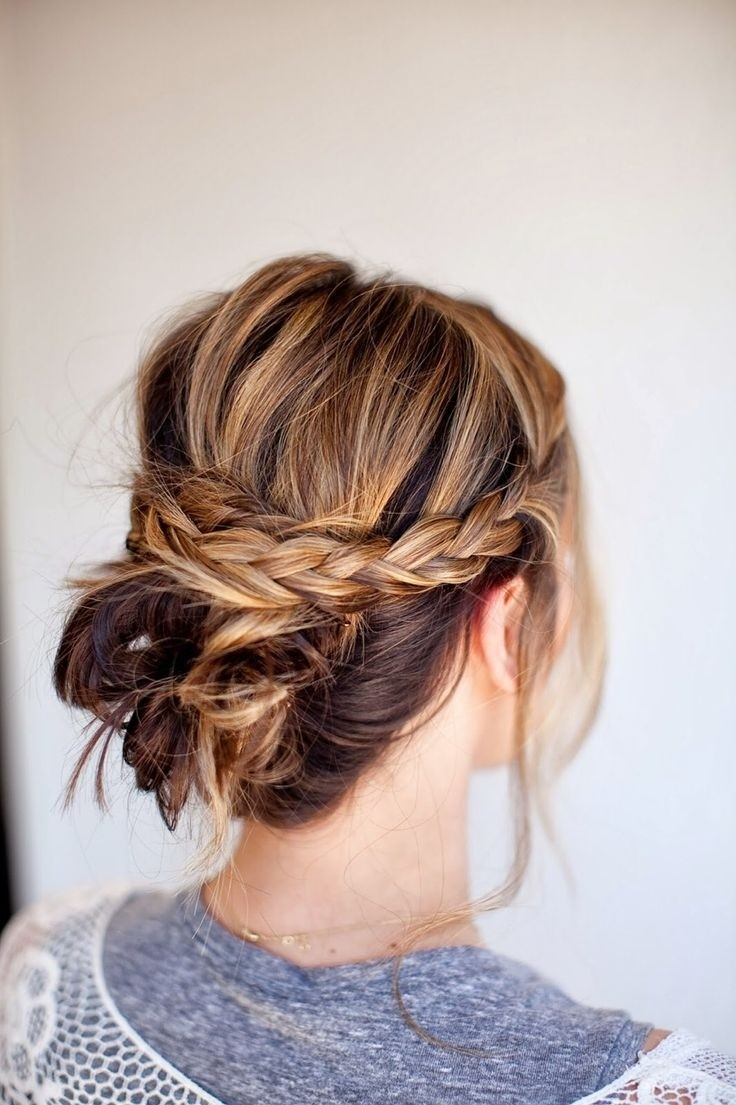 Twisted Updo Hairstyle with Braid