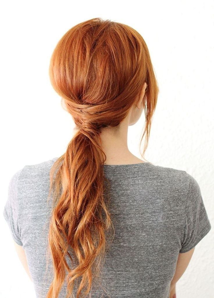 Weaved Low Ponytail
