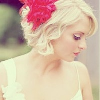 Wedding Hairstyle for Short Blond Hair