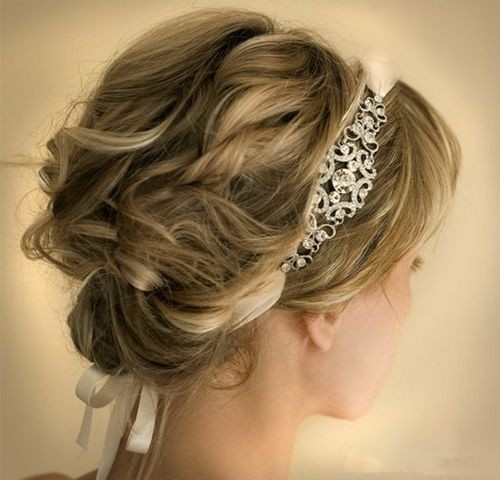 Curly Updo Hairstyles For Weddings: 12 Glamorous Wedding Updo Hairstyles For Short Hair