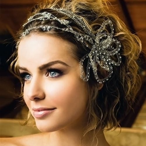 Wedding Updo Hairstyle with Hair Accessories