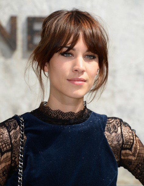 Alexa Chung Simple Updo Hairstyle
