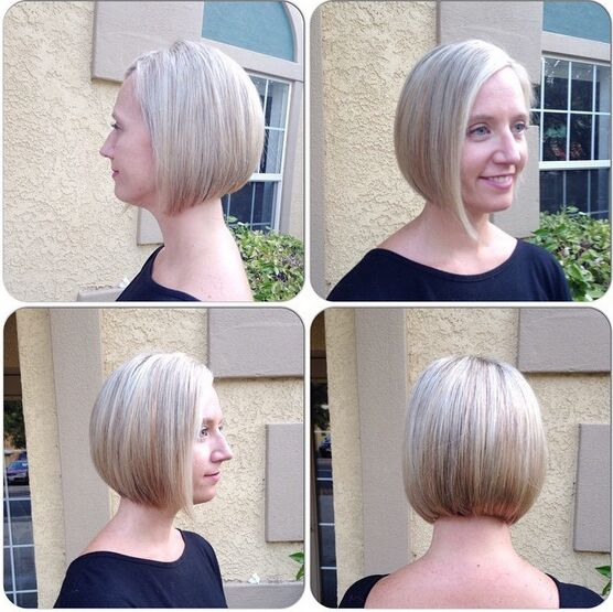 Asymmetrical A-line Bob Haircut for Short Hair