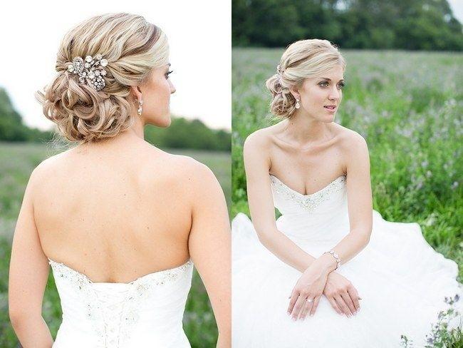 прически с средними волосами фото на свадьбу