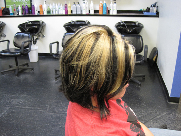 Black and Blond Bob Hairstyle