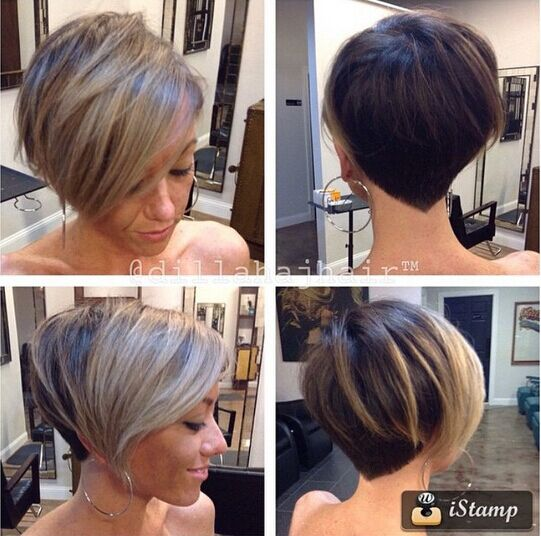 Blond Highlighted Bob Hairstyle