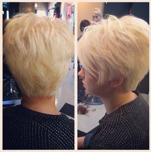 Blonde Pixie Haircut for Women
