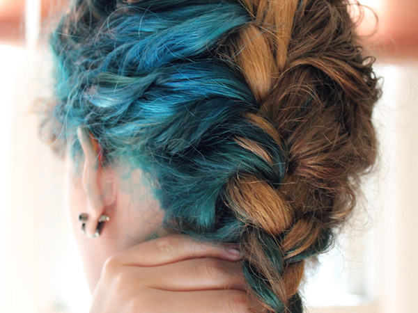 Braid Hairstyle for Two-Tone Hair
