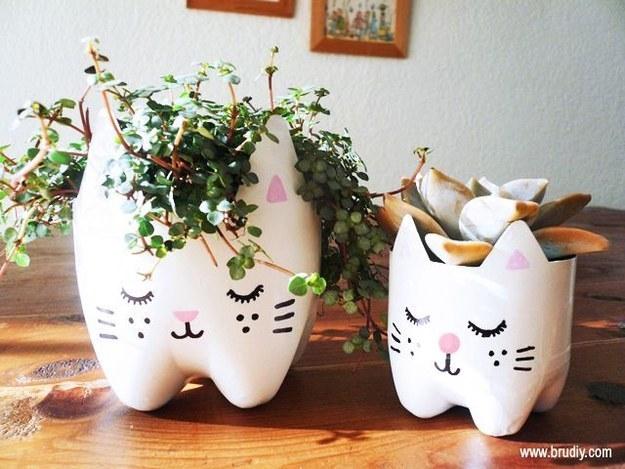 Cat Plant Holders