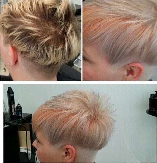 Colored Short Pixie Haircut