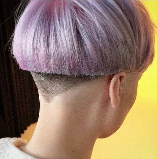 Cool Short Hairstyle with Blunt Cut