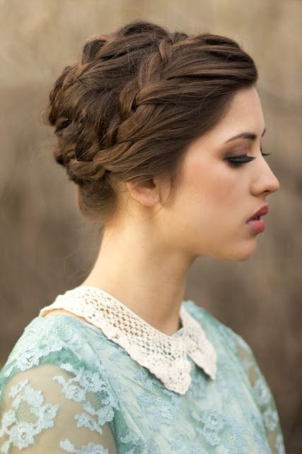 Crown Braided Updo Idea