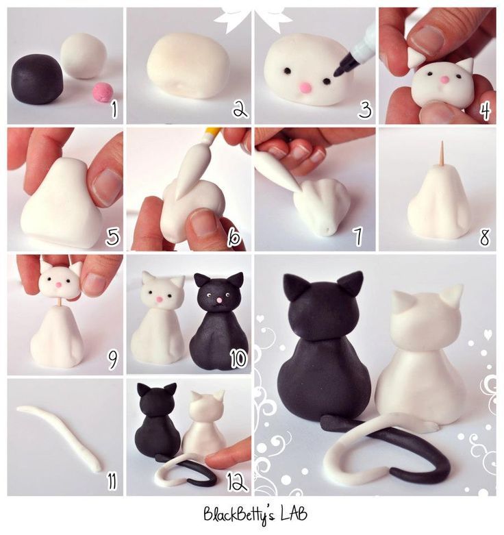 Cute Clay Designs Cute Clay Kitty Couple