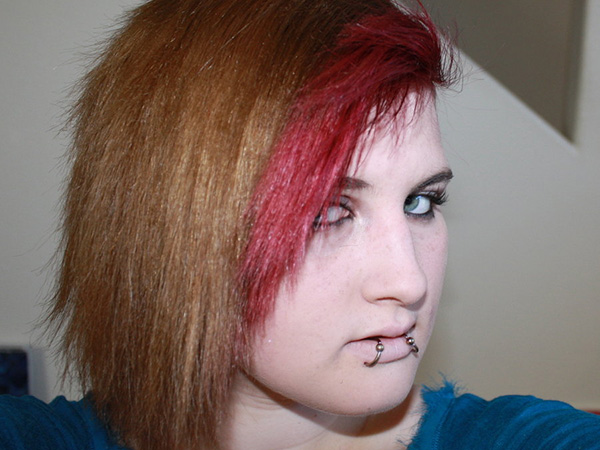 Edgy Red and Brown Short Hair