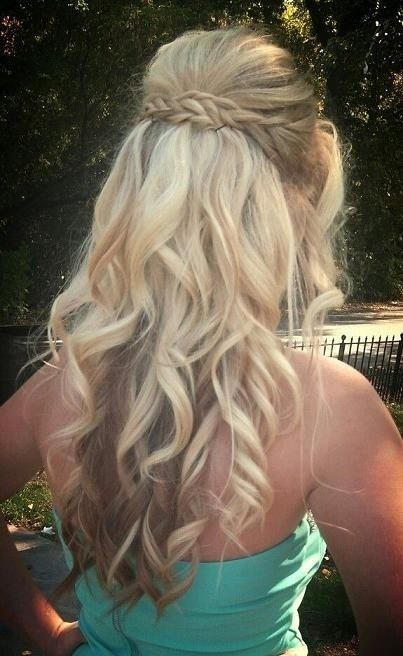Half Up Hairstyle for Long Curly Hair