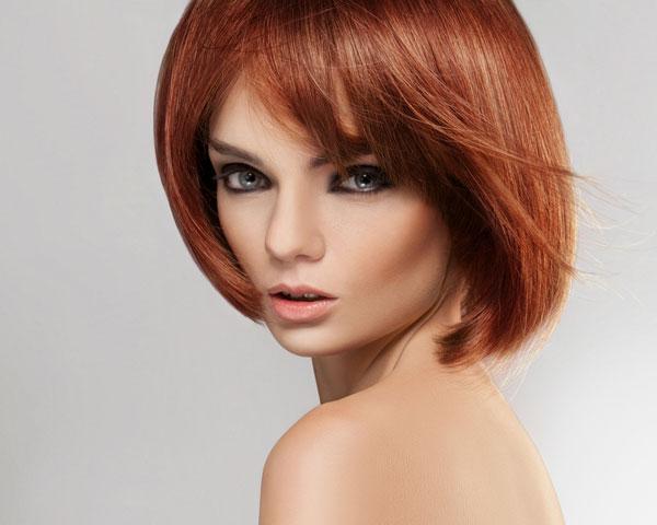 Layered Bob Haircut for Red Hair