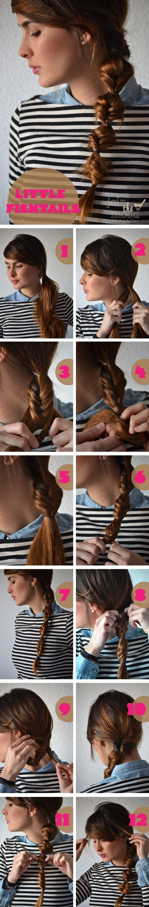 Little Fish Ponytail Hairstyle Tutorial