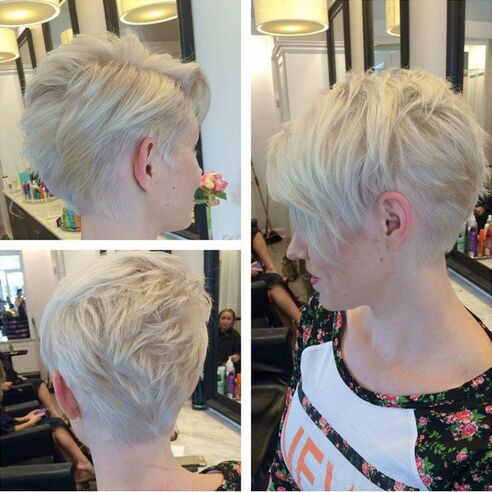 Messy Short Hairstyle for Thin Hair