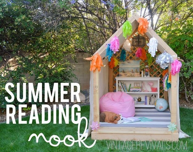 Outdoor Summer Reading Nook