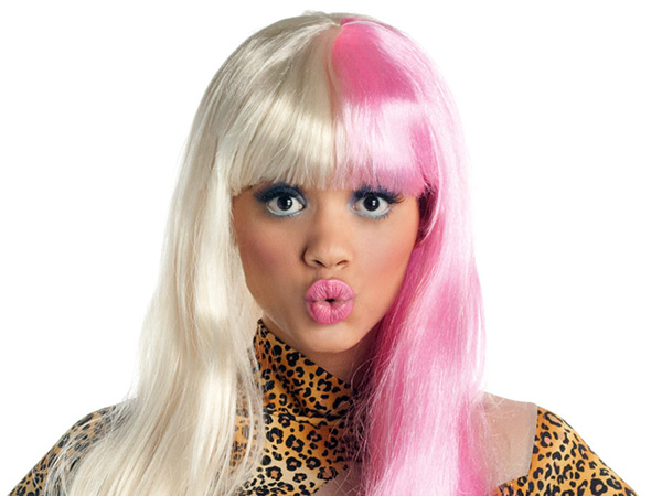 Pink and Blond Hairstyle
