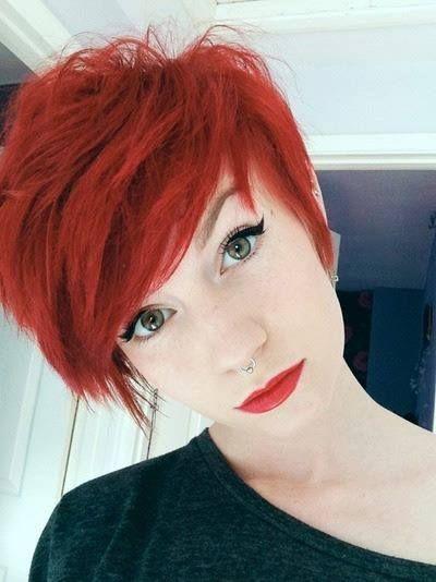 Pretty Short Haircut for Red Hair