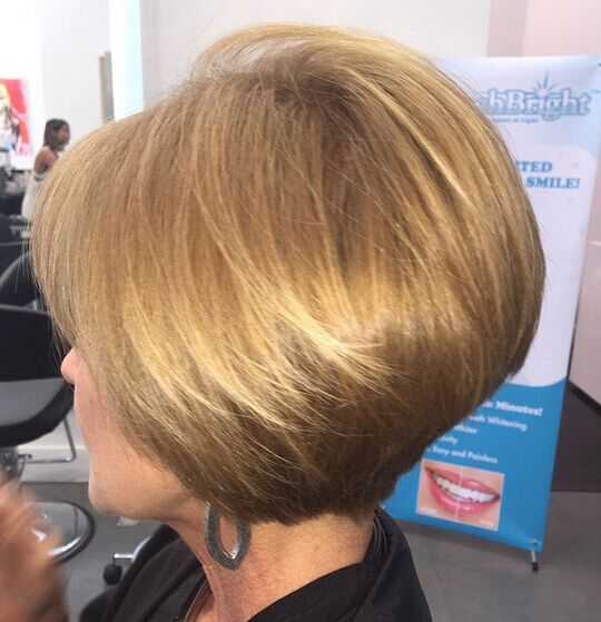 Short Bob Haircut for Women Over 40 via