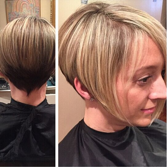 Short Bob Hairstyle with Highlights
