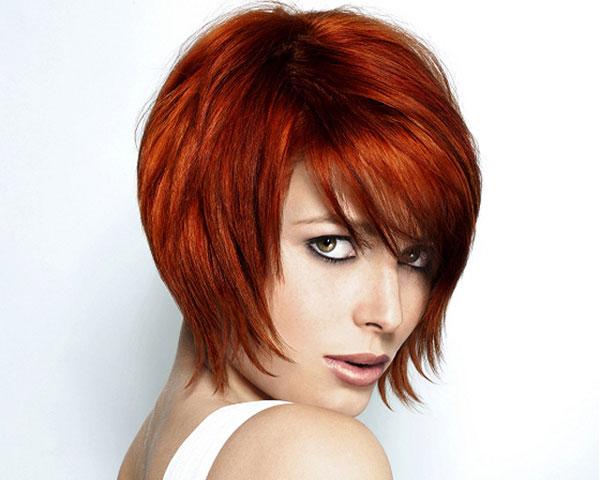 Short Choppy Haircut for Red Hair