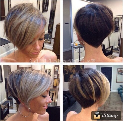 Short Hairstyle with Blond Highlights