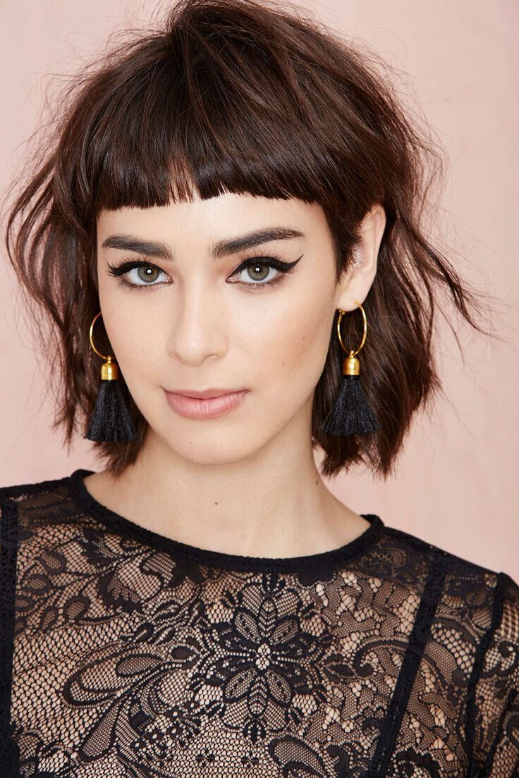Short Shaggy Hairstyle with Bangs
