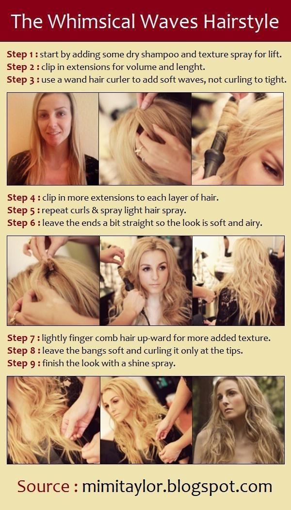 Trendy Long Wavy Hairstyle Tutorial