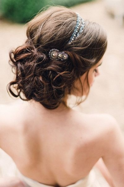bride hairstyles 2017 : Pics Photos - Wedding Updo With Headband Wedding Updo With Headband