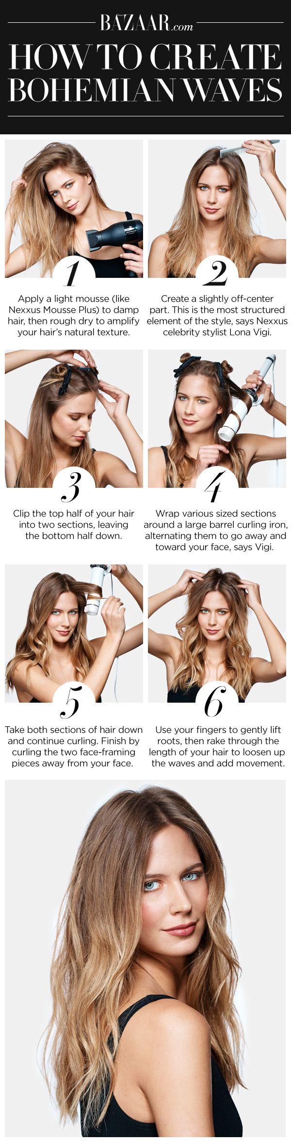 10 boho hair tutorial for the season pretty designs bohemian waves baditri Choice Image