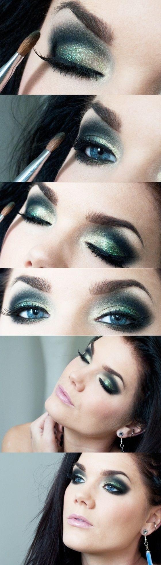 Green Ombre Eye Makeup