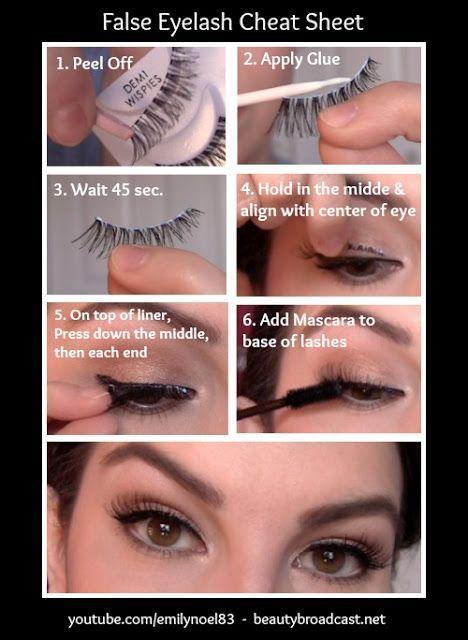 10 Ways to Apply False Eyelashes Properly - Pretty Designs