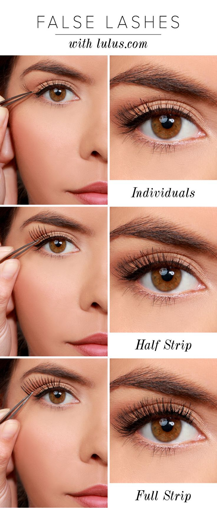 Ways to Apply Eyelashes