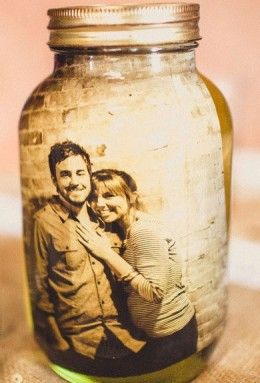 Picture in Mason Jar