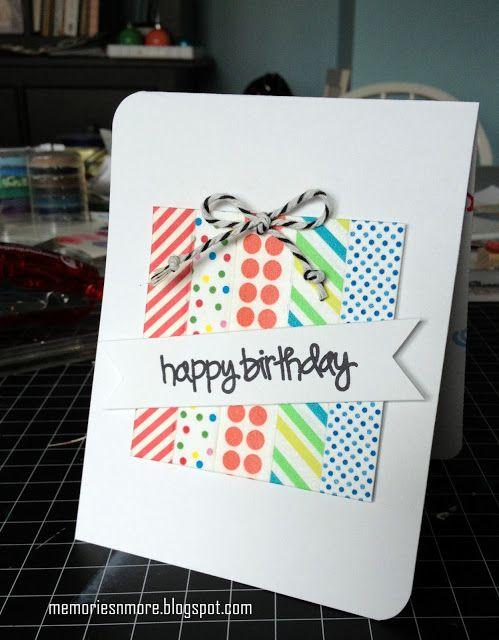Washi Tape Greeting Card