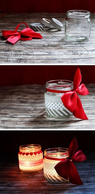 Washi Tape Candle Holders