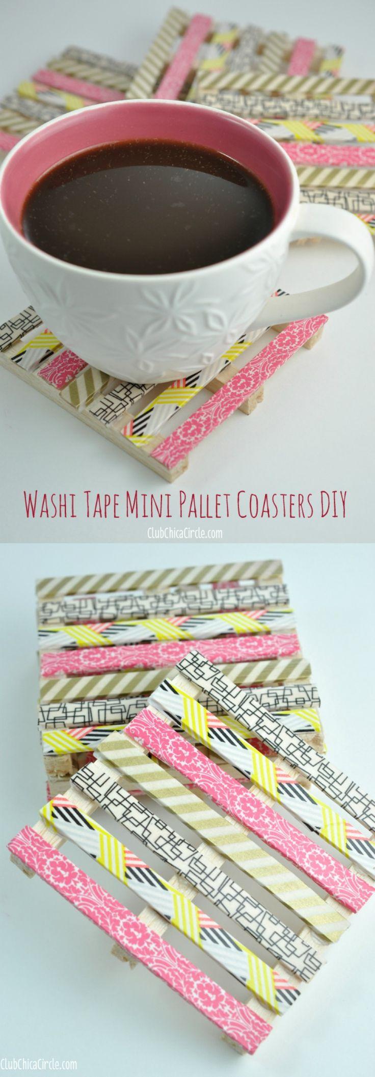 Washi Tape Mini Wood Pallet