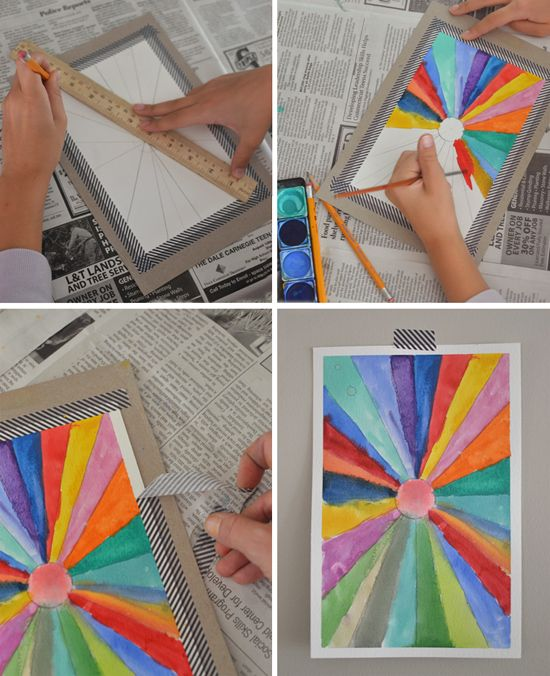 Simple Sunburst Paintings