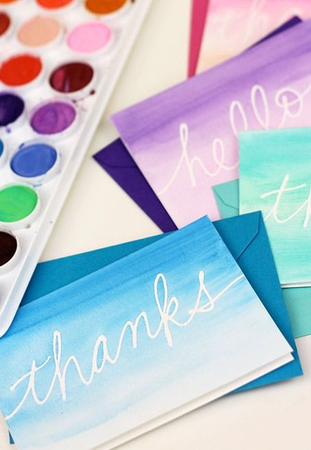 Watercolor Notecards