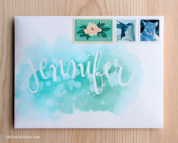 Watercolor Envelops