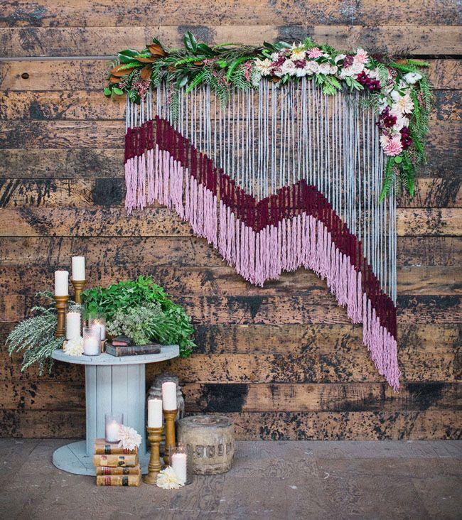 Yarn Floral Backdrop