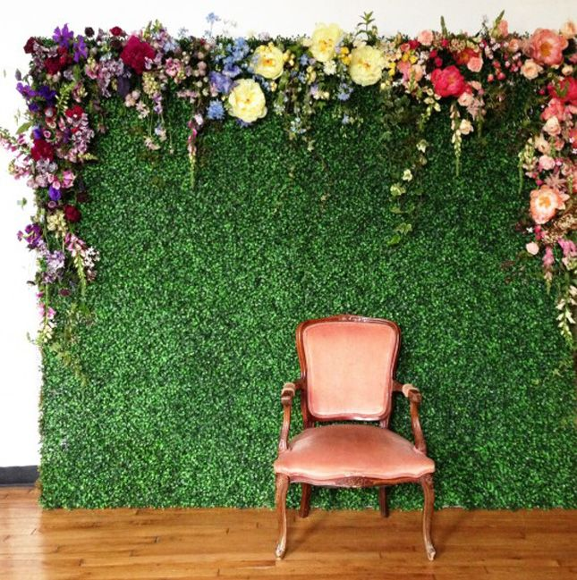 Fun Photo Backdrop with Flowers